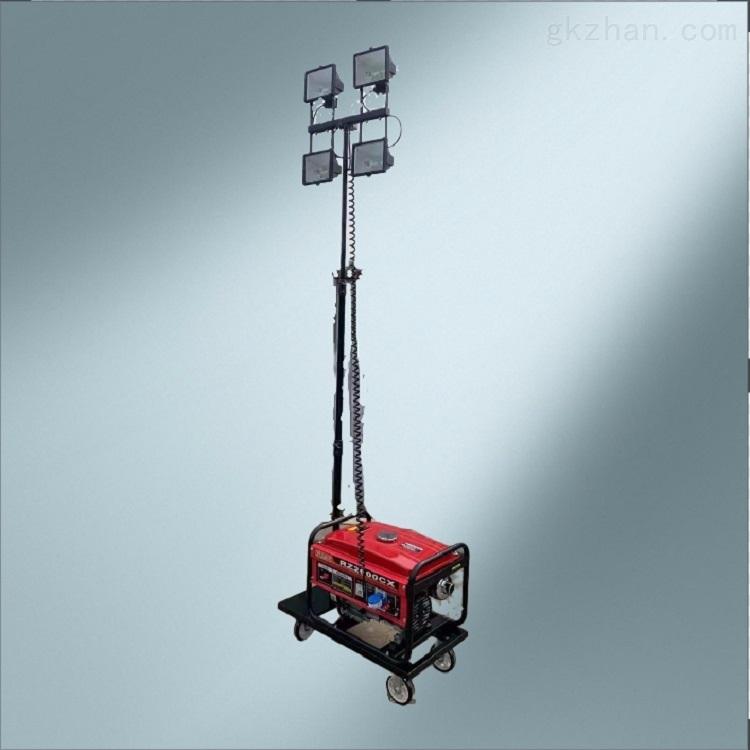 小型汽油发电机照明灯手动升降杆简易轻便型