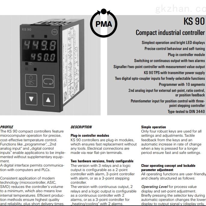 德国PMA KS9系列温度控制器