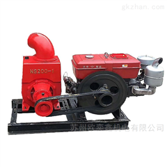 HS-Z100-C型号柴油杂质抽水泵淤泥砂石贝壳大流量抽水机4