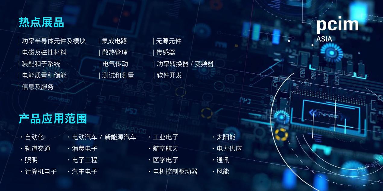 PCIM Asia 2020将于11月16日开幕,带来高质量电力电子产品专区及同期活动