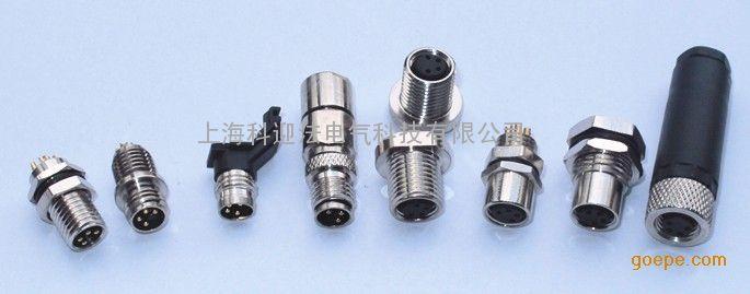 常规芯数:3针3孔、4针4孔、5针5孔、6针6孔 产品名称:M8型传感器防水插座,自带电缆,针型孔型,安装螺纹与方式任选,带电缆长度任选。  防护等级:IP67 接触件材料:铜合金  材料接触表面:NIAU   接触件载体材料:AU  夹具本体材料:PVC/PA66 螺圈材料:铜合金  密封材料:丁晴橡胶 产品认证:CE、ROHS、ISO9001各种认证 安装螺纹:M8*0.5、M8*1、M10、M12、PG7 科迎法镀层有助于提高电气性能  电气性能的优化可从如下方面考虑,即对已经存在和即将形成的位于接触镀层表面薄膜的控制。电连接器电气性能的一个主要需求是建立和维持稳定的连接器阻抗。为达到这个目的,需要一个金属接触界面以提供这样的固有稳定性。建立这样的接触界面需要表面薄膜能在接触配合的时候避开或分裂。这两种不同的选择明确了贵金属或稀有金属和普通金属之间的区别。  厂家简介 科迎法公司坚持创新、创新、再创新的思路,坚持