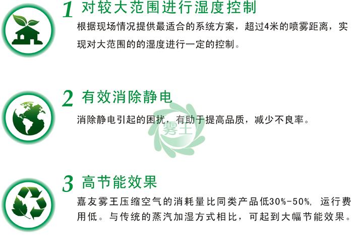 干霧加濕器/氣水加濕器可以有效消除靜電