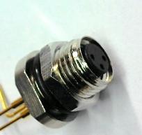 孔式PCB焊接连接面板前M8法兰插座