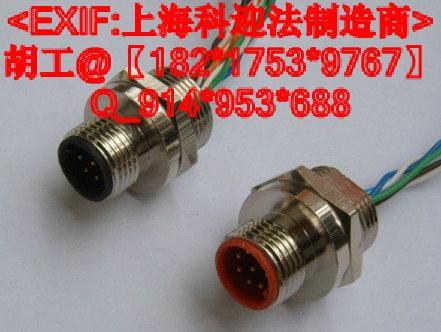 M12六方法兰插座