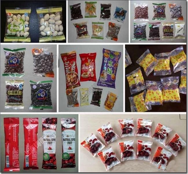 立式食品包装机包装样品:
