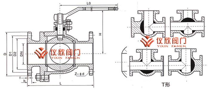 T型流向图